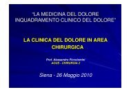 La clinica del dolore in area chirurgica