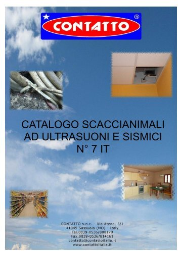 Catalogo scacciatopi 7 IT - SPARKS srl - Sassuolo