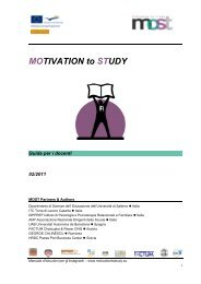 Manuale didattico per insegnanti (D) - MOST | Motivation to Study