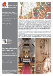 Un itinerario tra due oratori - Liceo Artistico Statale Catalano