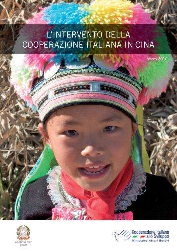 Gli interventi della cooperazione italiana in Cina