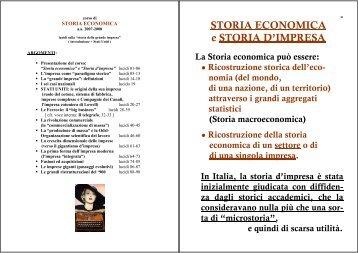 storia dell'impresa - GIORGIO ROVERATO