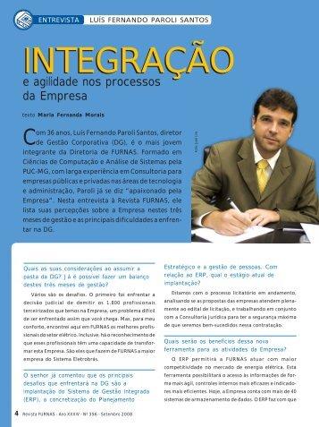 Luís Fernando Paroli Santo: Integração e agilidade nos ... - Furnas