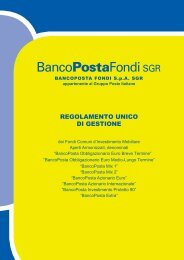 REGOLAMENTO UNICO DI GESTIONE - BancoPosta Fondi SGR