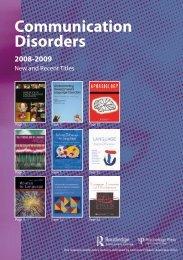 Communication Disorders - Psycholinguistics Arena