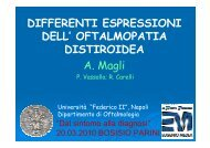 Differenti espressioni dell'oftalmopatia distiroidea - E. Medea