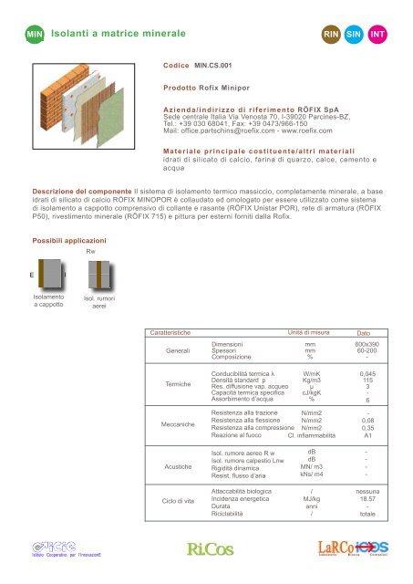 bio isolamento a cappotto con silicato di calcio idrato