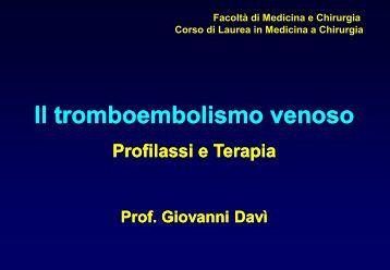 TEV - profilassi e terapia - Facolta' di Medicina e Chirurgia - Chieti