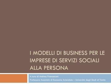 I modelli di business emergenti