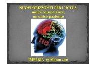 Percorso stroke in Piemonte-Lombardia-Liguria - Progetto Ictus