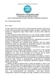 Mozione Congressuale Mauro Piazza e Antonio ... - Daniele Nava