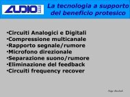 La tecnologia a supporto del beneficio protesico - Audiofit.It