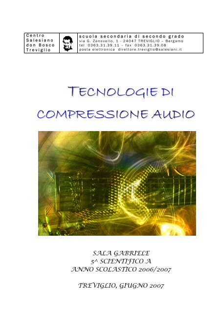 TECNOLOGIE DI COMPRESSIONE AUDIO - Matematicamente.it