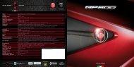 Motore Cilindrata Alesaggio x Corsa Carburante Rapporto di ...