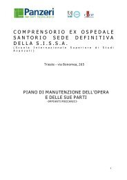 COMPRENSORIO EX OSPEDALE SANTORIO SEDE ... - Sissa