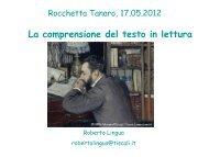 La comprensione del testo in lettura - Icrocchetta.org