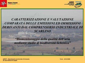 CARATTERIZZAZIONE E VALUTAZIONE ... - ARPA Umbria