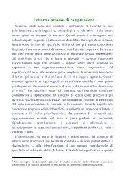 Lettura e processi di comprensione