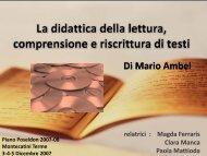 La didattica della lettura, comprensione e riscrittura di testi - Mattioda