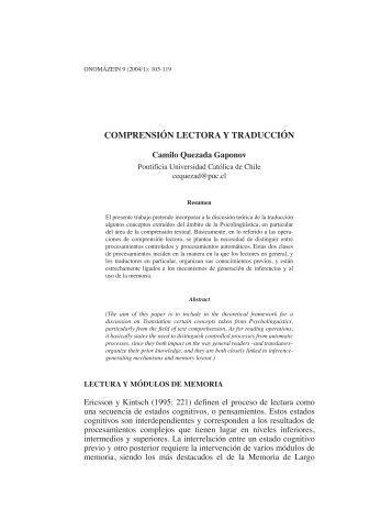 Comprension lectora y traducción - Onomázein