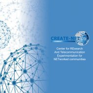 Center for REsearch And Telecommunication ... - Create-Net