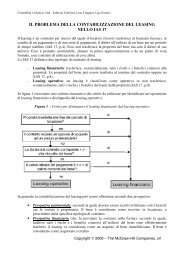 il problema della contabilizzazione del leasing nello ... - Ateneonline