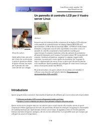Un pannello di controllo LCD per il Vostro server Linux - Ibiblio