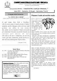 Foglio settimana 19 Giugno 2011.pdf - Parrocchia San Bartolomeo ...