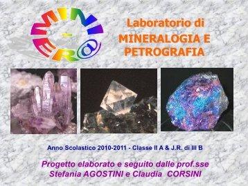 Laboratorio di MINERALOGIA E PETROGRAFIA