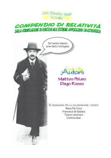 Compendio di relatività - Liceo Scientifico Galilei