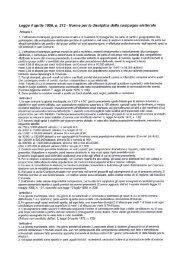 Riferimenti legislativi per campagna elettorale - Comune di Cogliate