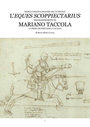 l'eques scoppiectarius mariano taccola - Societa italiana di storia ...
