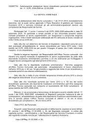 OGGETTO: Autorizzazione prestazione lavoro straordinario ...