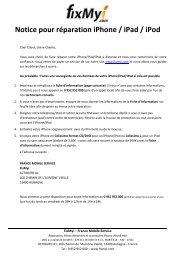 Notice pour réparation iPhone / iPad / iPod - FixMyi.com