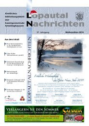 Lopautal Nachrichten 01/2011 - Amelinghausen