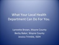 Local Health Department Outreach Office