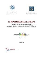Il benessere degli anziani - Provincia di Lucca - Servizio Politiche ...