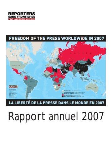 Rapport annuel 2007 - Unesco