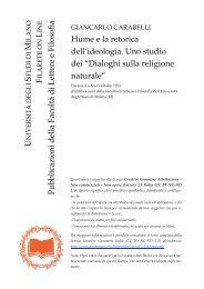 Dialoghi sulla religione naturale - Studi umanistici Unimi - Università ...