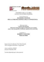 ROBERTA SANTORO Matricola 90261 - Mondoailati - Università ...