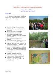 l'oasi di manzolino - Comunicazione - Scuola