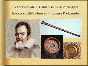 Il cannocchiale di Galileo sembra infrangere le ... - Home Page FTTR