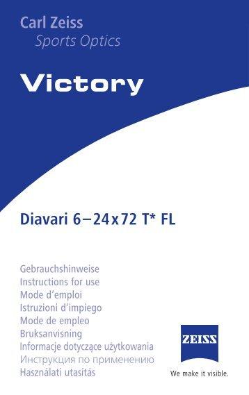 Victory Carl Zeiss Sports Optics Diavari 6–24x72 T* FL