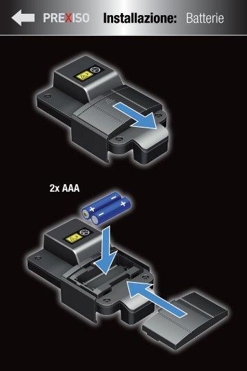Installazione: Batterie - Prexiso