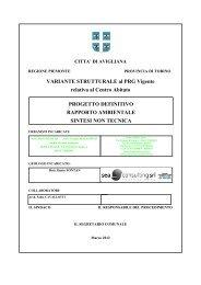 L09_05ter h004 RA Sintesi Centro abitato mar ... - Città di Avigliana