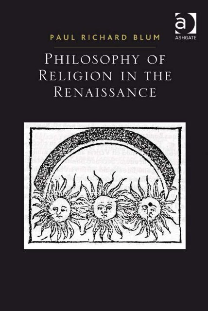 Philosophy of Religion in the Renaissance - PEEF's Digital Library
