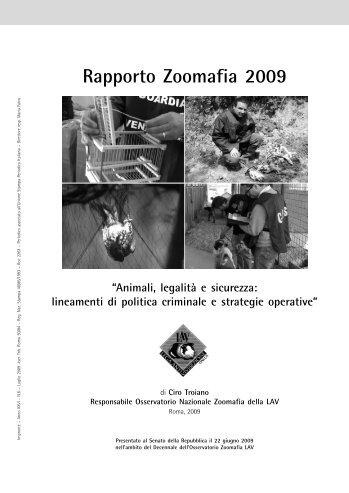 Rapporto Zoomafia 2009 - Lav