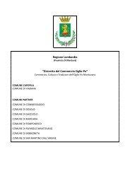 """Regione Lombardia """"Distretto del Commercio Oglio-Po"""" - IReR"""
