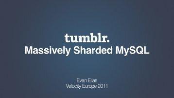 Massively Sharded MySQL