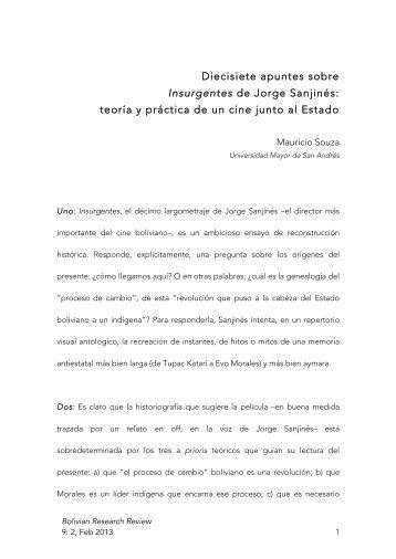 Diecisiete apuntes sobre Insurgentes de Jorge Sanjinés: teoría y ...